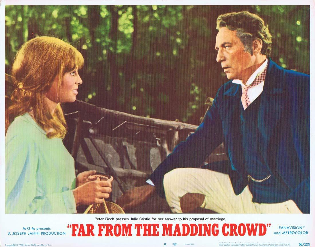 FAR FROM THE MADDING CROWD Lobby Card 8 Julie Christie Terence Stamp