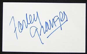 FARLEY GRANGER (Starred in Hitchcock's Rope) - Autographed Index card