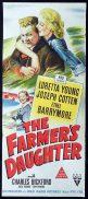THE FARMERS DAUGHTER Original Daybill Movie Poster Loretta Young Joseph Cotten