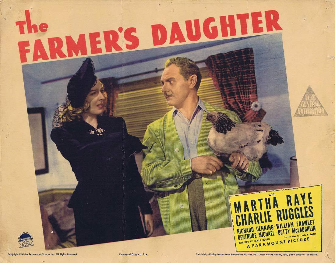 THE FARMER'S DAUGHTER Original Lobby Card Loretta Young Joseph Cotten Ethel Barrymore