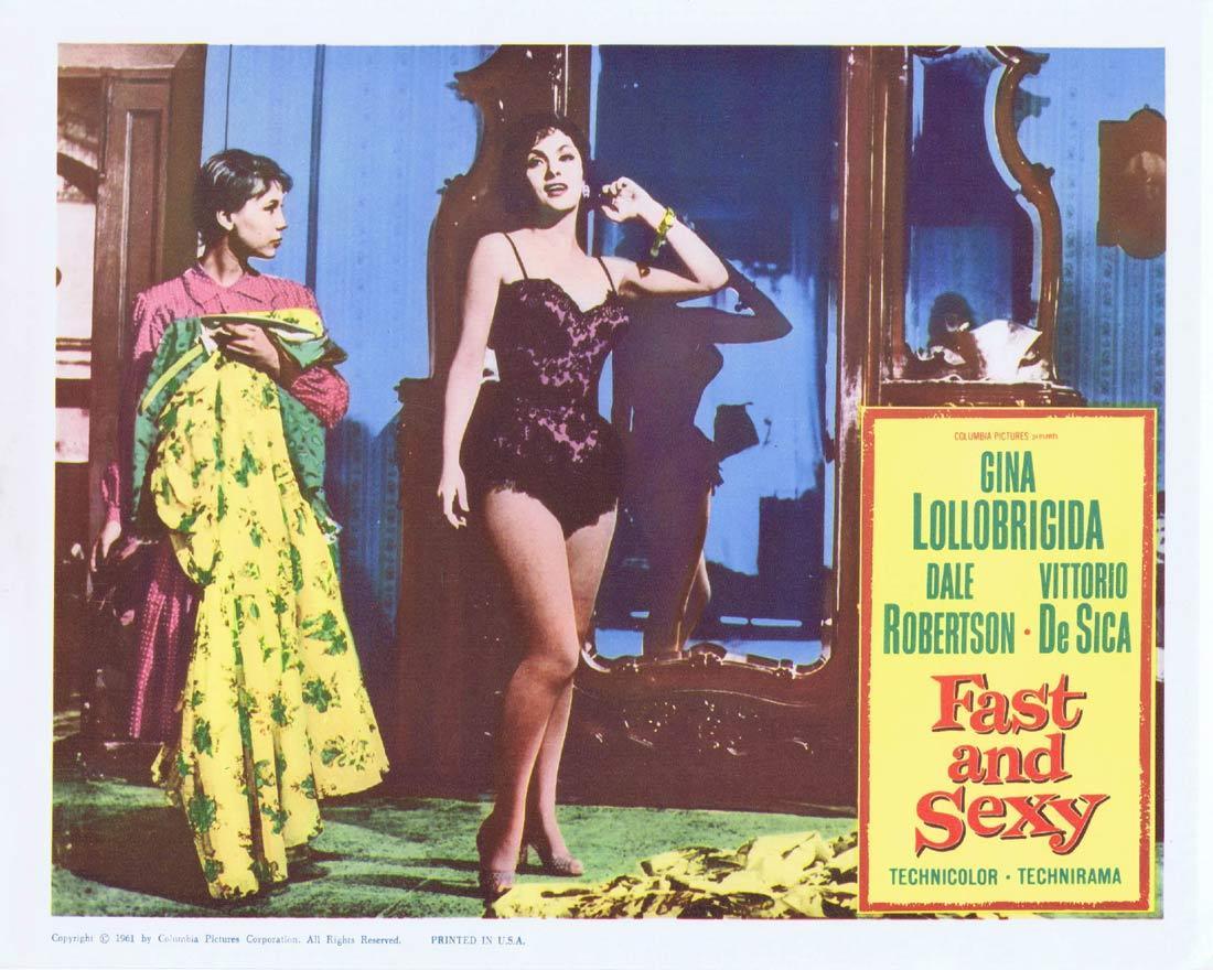 FAST AND SEXY Lobby Card 2 Gina Lollobrigida Vittorio de Sica.