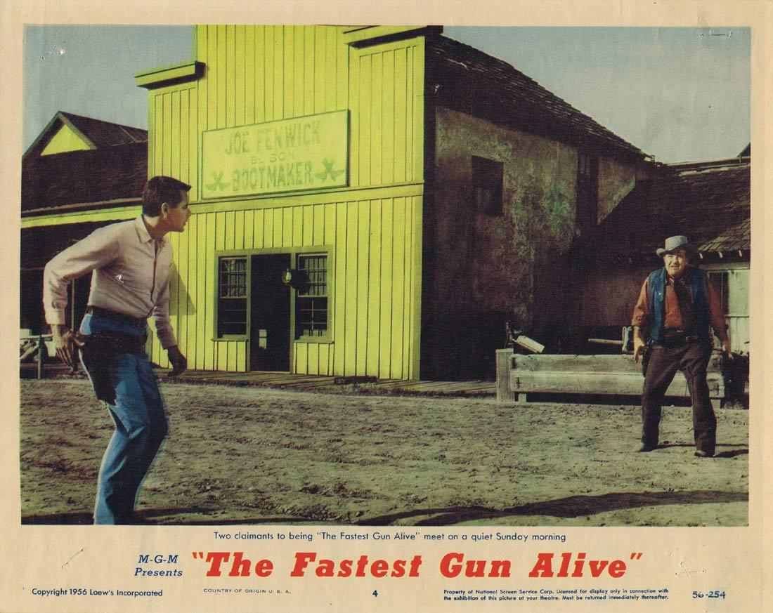 THE FASTEST GUN ALIVE Original Lobby Card 4 Glenn Ford Jeanne Crain Broderick Crawford