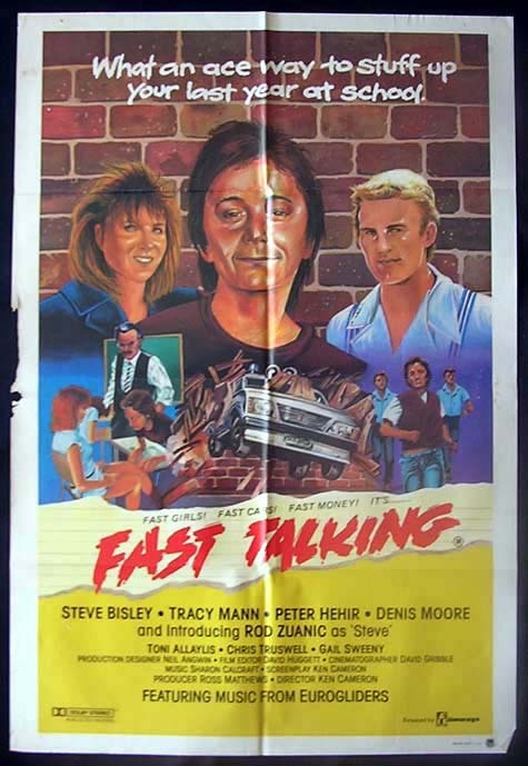 FAST TALKING Movie Poster 1979 Steve Bisley Australian One sheet Movie poster