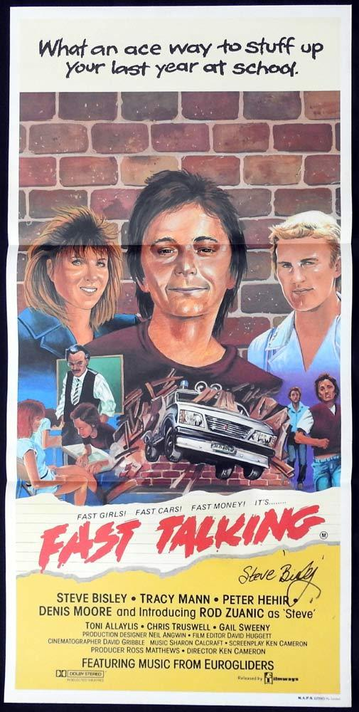 FAST TALKING Original Daybill Movie poster AUTOGRAPH by Steve Bisley