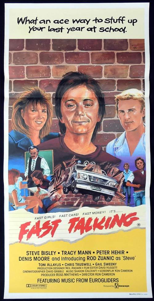 FAST TALKING Daybill Movie Poster Rod Zuanic Steve Bisley Tracey Mann