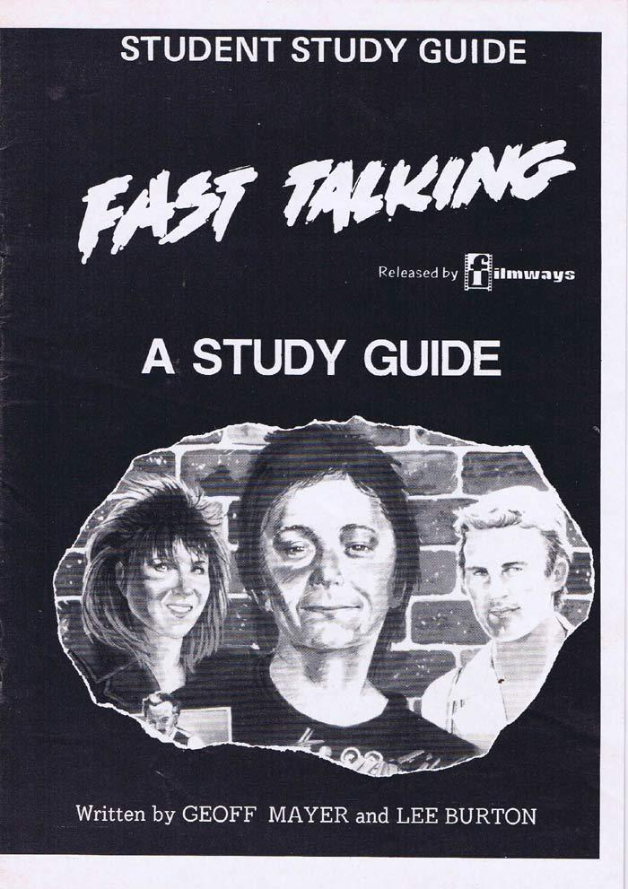 FAST TALKING Original Australian Movie Study Guide Rod Zuanic Steve Bisley