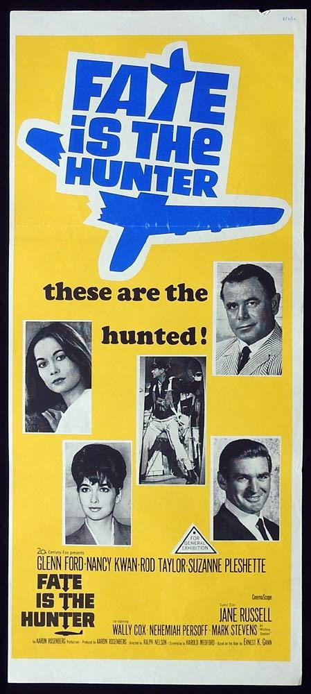 FATE IS THE HUNTER Glenn Ford Rod Taylor Australian Daybill Movie Poster