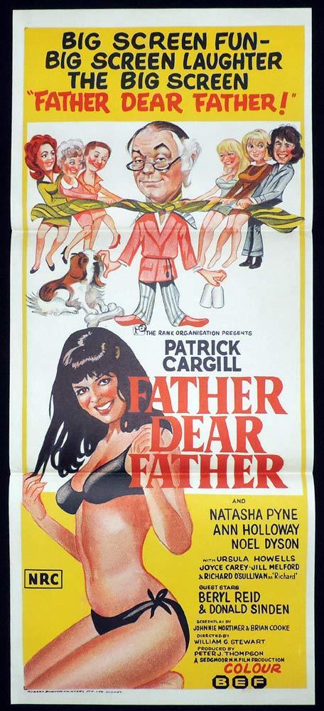 FATHER DEAR FATHER daybill Movie poster Patrick Cargill Natasha Pyne