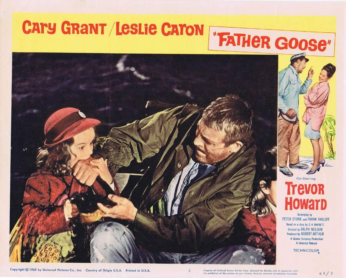 FATHER GOOSE Original Lobby Card 2 Cary Grant Leslie Caron