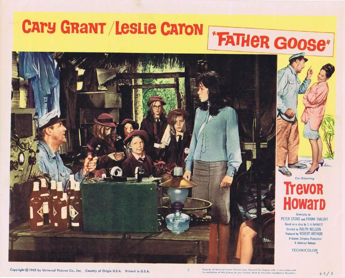 FATHER GOOSE Original Lobby Card 3 Cary Grant Leslie Caron