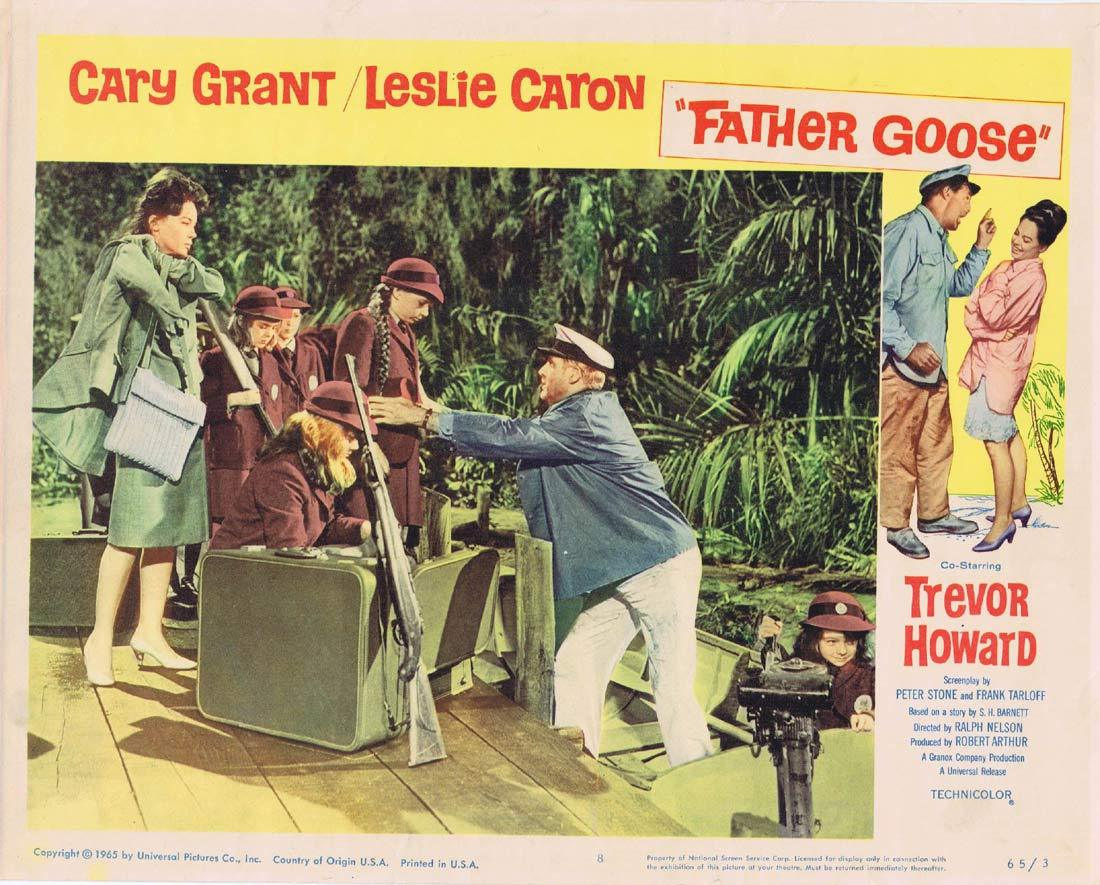 FATHER GOOSE Original Lobby Card 8 Cary Grant Leslie Caron