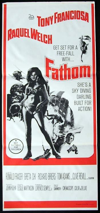 FATHOM daybill Movie poster Raquel Welch Sky Diving