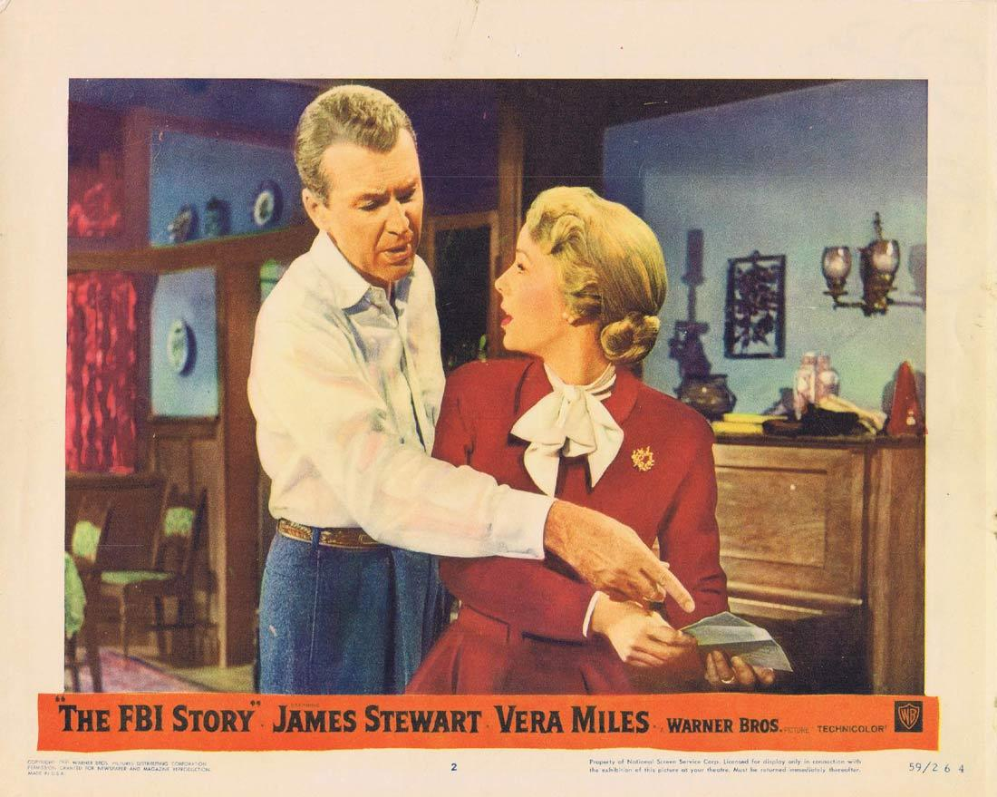 THE FBI STORY Vintage Movie Lobby Card 2 James Stewart Vera Miles Nick Adams