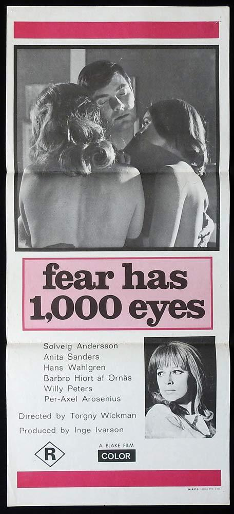 FEAR HAS 1000 EYES aka Sensuous Sorceress Original Daybill Movie Poster