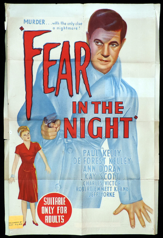 FEAR IN THE NIGHT One sheet Movie poster Film Noir