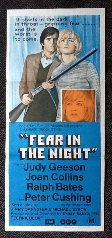 FEAR IN THE NIGHT Daybill Movie poster HAMMER HORROR Ralph Bates