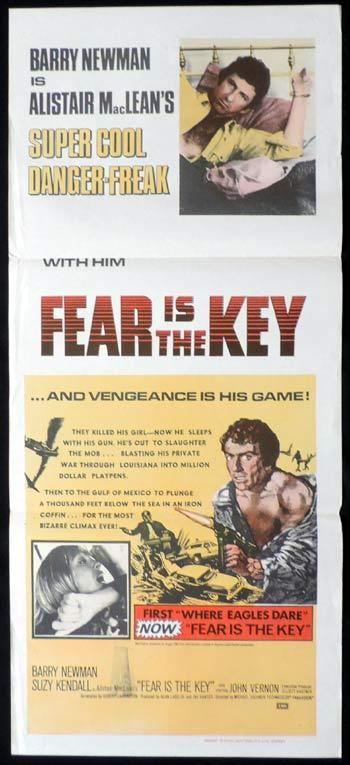 FEAR IS THE KEY daybill Movie poster Barry Newman