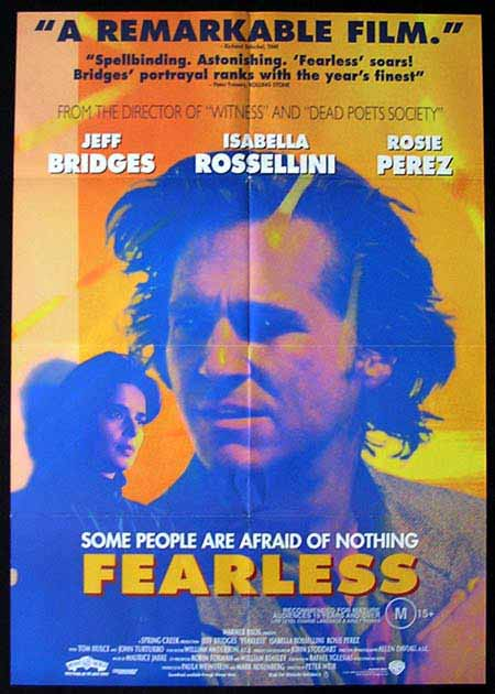 FEARLESS Original One sheet Movie poster Jeff Bridges Peter Weir