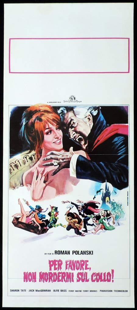 FEARLESS VAMPIRE KILLERS Italian Locandina Movie Poster Roman Polanski. Sharon Tate