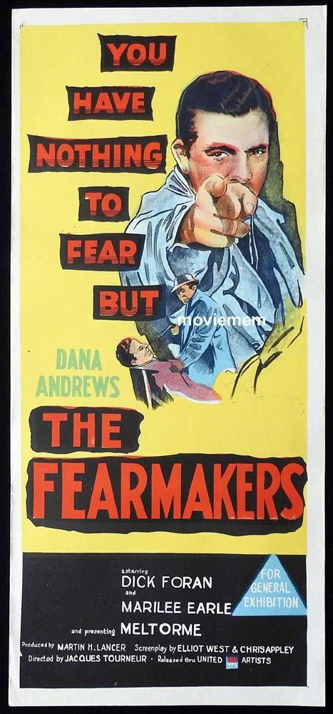 THE FEARMAKERS Original Daybill Movie Poster Dana Andrews Dick Foran