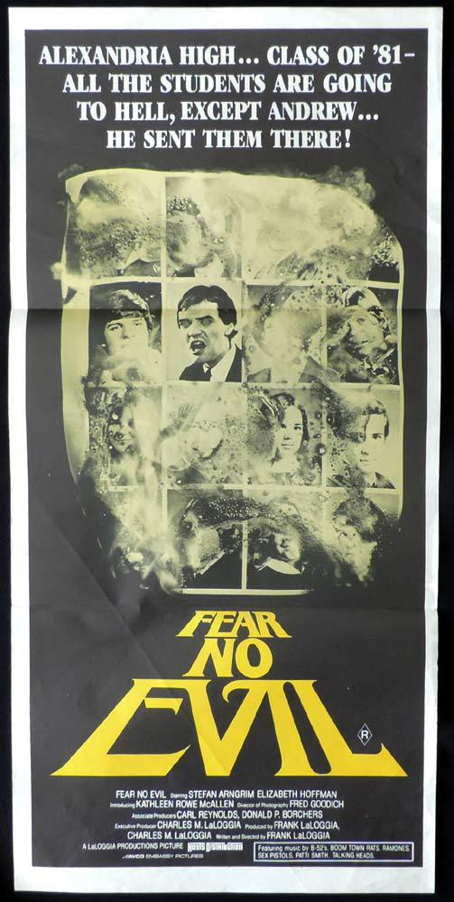 FEAR NO EVIL Original Daybill Movie Poster Stefan Arngrim Elizabeth Hoffman