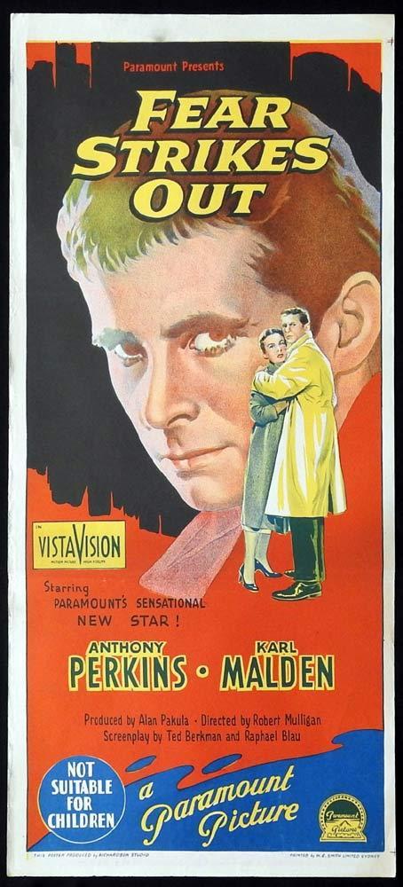 FEAR STRIKES OUT Original Daybill Movie Poster Anthony Perkins Richardson Studio