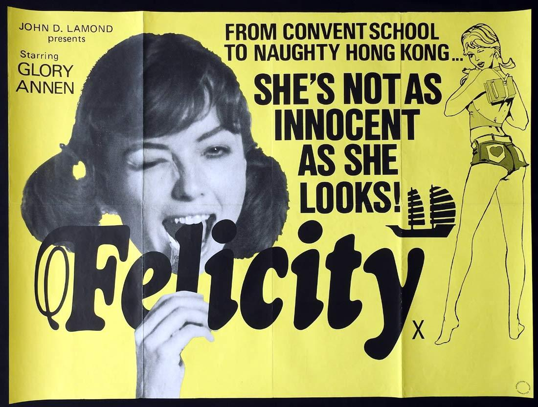 FELICITY British Quad Movie poster Glory Annen Marilyn Rodgers John Lamond