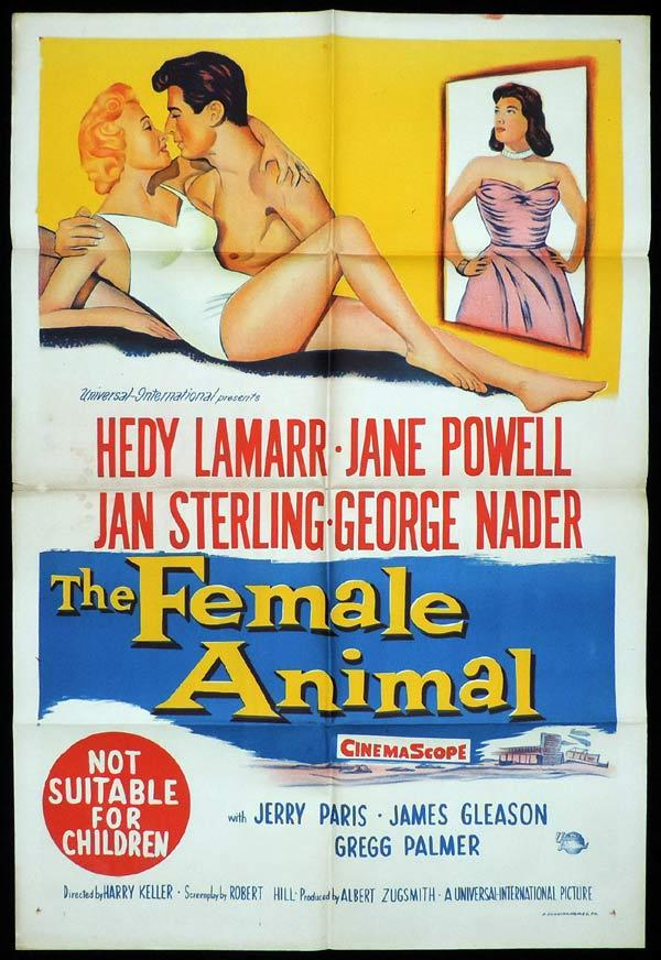 THE FEMALE ANIMAL One Sheet Movie Poster Hedy Lamarr