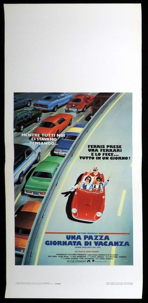FERRIS BUELLER'S DAY OFF Italian Locandina Movie Poster Ferrari Art