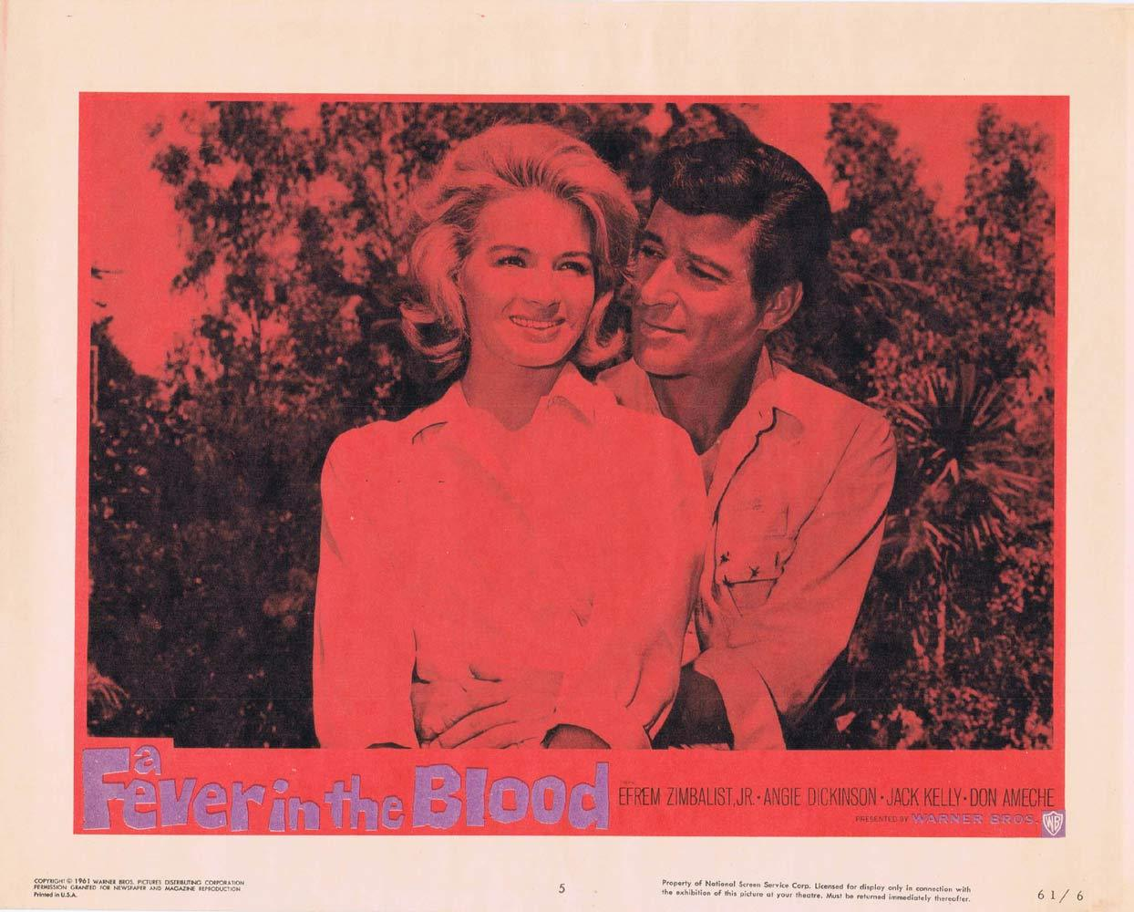 A FEVER IN THE BLOOD Lobby Card 5 Efrem Zimbalist Jr Angie Dickinson