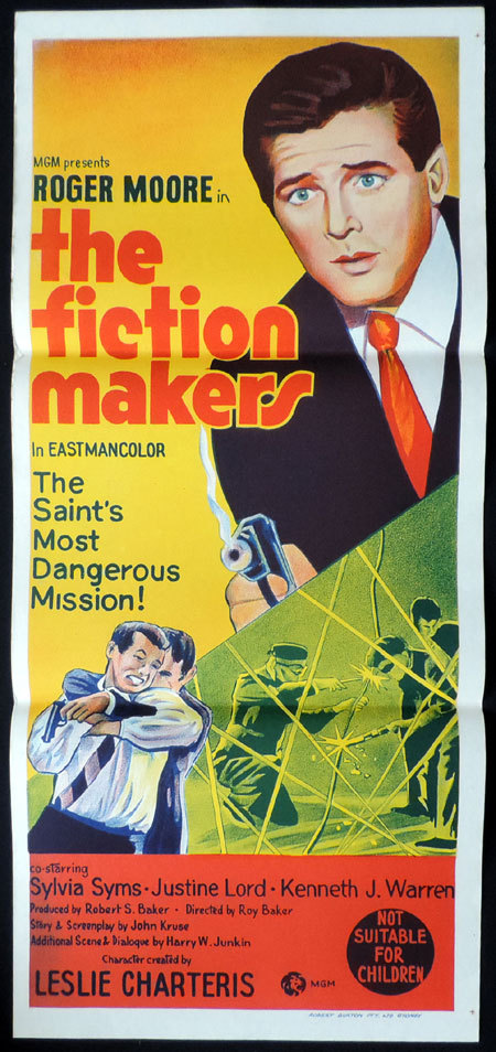 THE FICTION MAKERS Original Daybill Movie Poster ROGER MOORE as THE SAINT