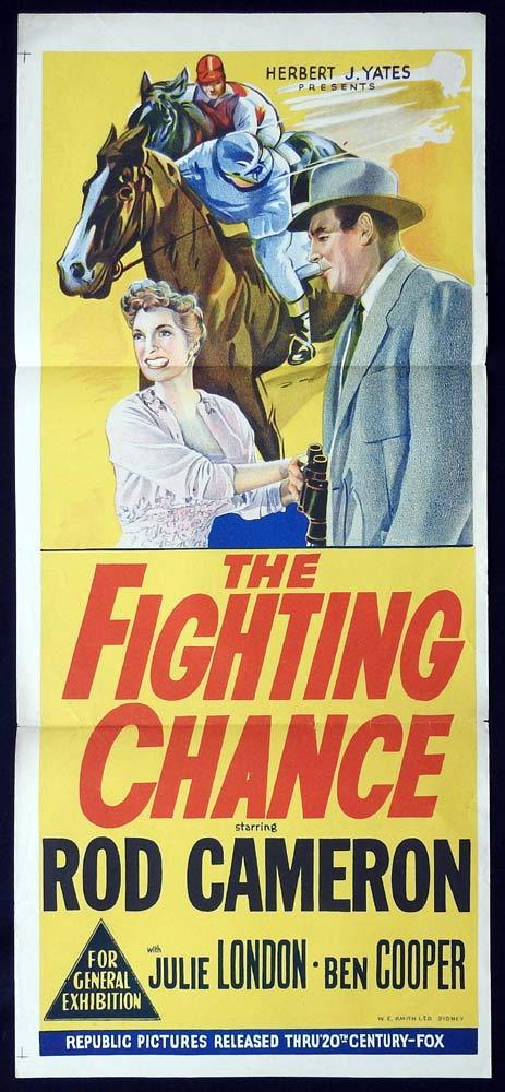 THE FIGHTING CHANCE Original Daybill Movie poster Rod Cameron Horseracing
