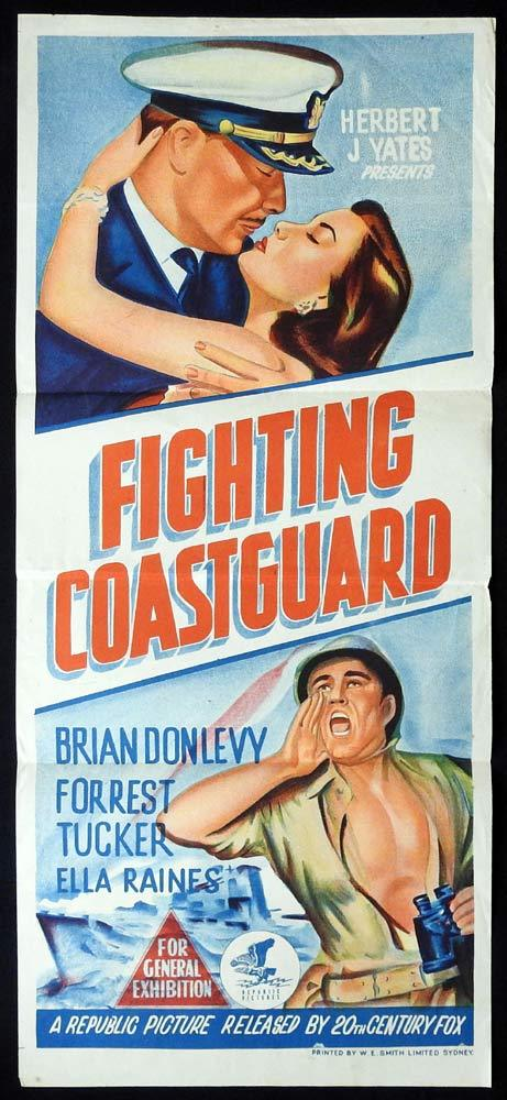 FIGHTING COAST GUARD Original Daybill Movie poster Brian Donlevy Forrest Tucker