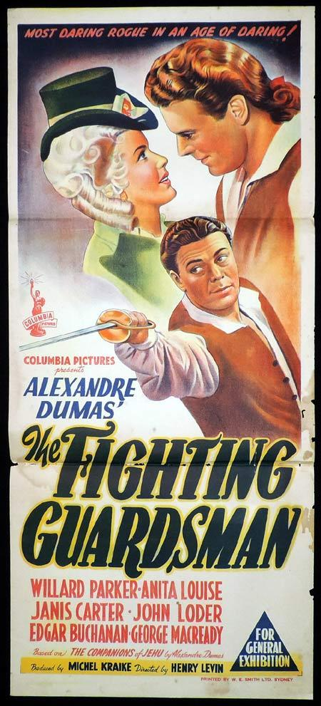 THE FIGHTING GUARDSMAN One Sheet Movie Poster Alexander Dumas