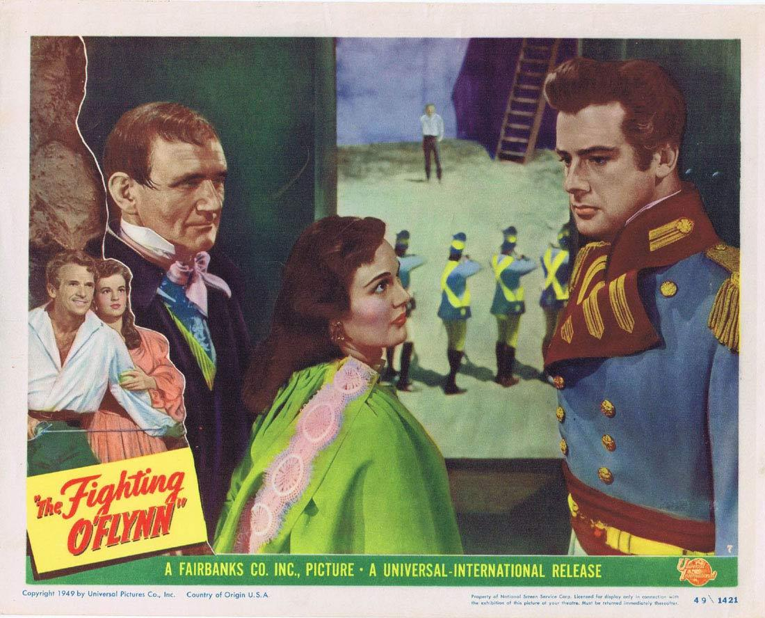 THE FIGHTING O'FLYNN Lobby Card 7 Douglas Fairbanks Jr. Helena Carter