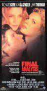 FINAL ANALYSIS Daybill Movie Poster RICAHRD GERE Kim Basinger