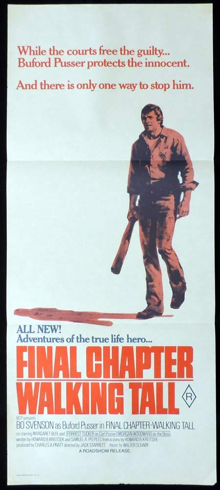 FINAL CHAPTER WALKING TALL Original Daybill Movie Poster Bo Svenson as Buford Pusser