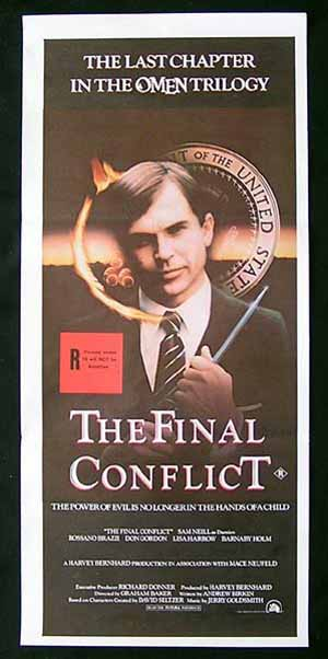 THE FINAL CONFLICT Daybill Movie poster Sam Neill The Omen Trilogy
