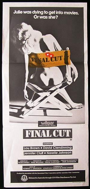 FINAL CUT 1980 Clendinning Lou Brown AUSTRALIAN FILM Daybill Movie poster