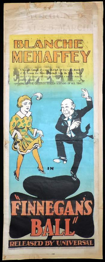 FINNEGAN'S BALL Long daybill Movie Poster 1927 Silent Cinema
