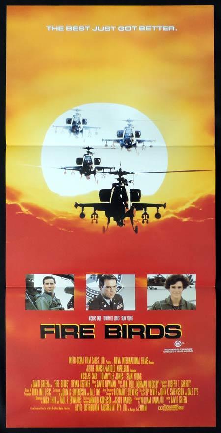 FIRE BIRDS Daybill Movie poster Nicolas Cage Tommy Lee Jones