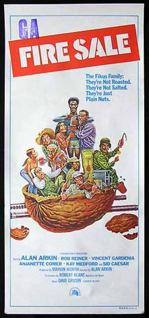 FIRE SALE Original Daybill Movie poster Alan Arkin Sid Caesar Vincent Gardenia