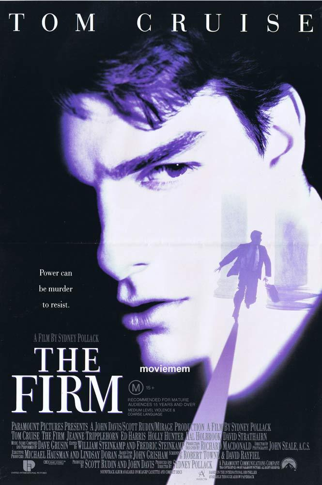 THE FIRM Original daybill Movie Poster Gene Hackman Tom Cruise