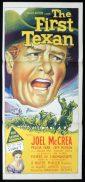 THE FIRST TEXAN Original Daybill Movie Poster JOEL MCCRAE Richardson Studio