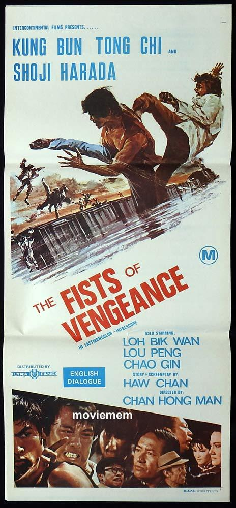 FISTS OF VENGEANCE Daybill Movie Poster KUNG FU Two Fists vs Seven Samurai
