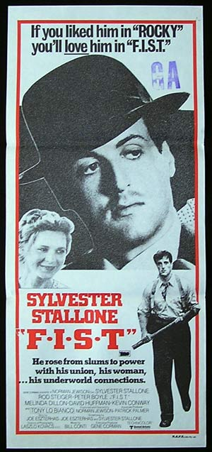 F.I.S.T Original Daybill Movie Poster 1978 Sylvester Stallone TEAMSTERS Rod Steiger