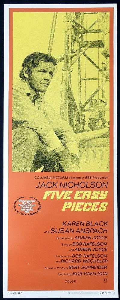 Five Easy Pieces, Bob Rafelson, Jack Nicholson, Karen Black, Susan Anspach