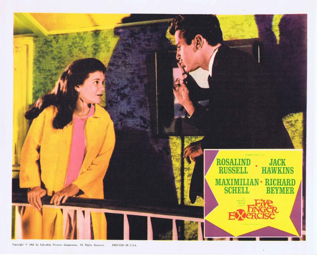 FIVE FINGER EXERCISE Lobby Card 3 Rosalind Russell Jack Hawkins