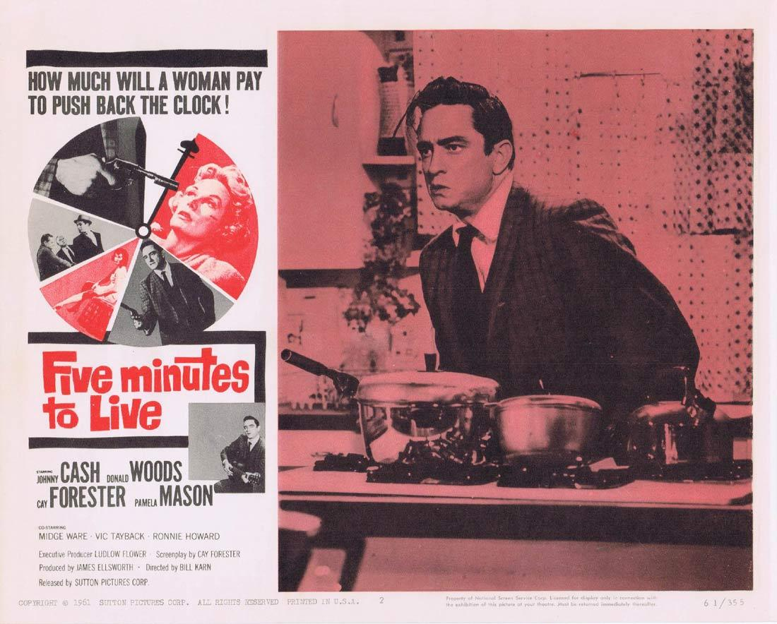 FIVE MINUTES TO LIVE Lobby Card 2 Johnny Cash Donald Woods Cay Forrester