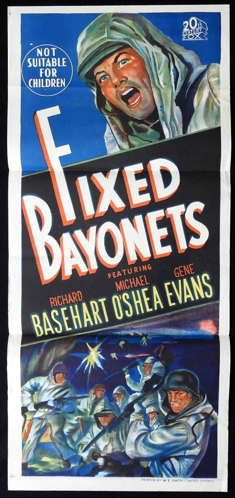 FIXED BAYONETS Daybill Movie poster 1951 Sam Fuller